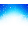 abstract blue bokeh winter background vector image