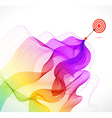 Abstract colorful background with Arrow Hitting A vector image vector image