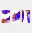alcohol ink paint abstract shapes closeup vector image vector image