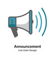 announcement flat icon vector image vector image