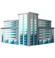 architecture design for office building vector image vector image