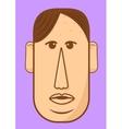 Avatar character head Human shape vector image