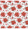 beautiful christmas seamless pattern with vector image vector image