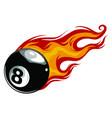 billiards pool snooker 8 vector image vector image