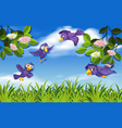bird in nature background vector image vector image
