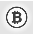black bitcoins icon vector image