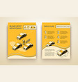 blind zone monitor assist brochure template vector image vector image