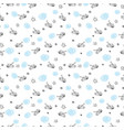 blue and white tank seamless pattern vector image
