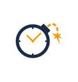 bomb time logo icon design vector image
