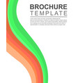 brochure template design background collection vector image vector image