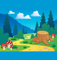 cartoon forest landscape 7 vector image