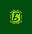 classic green e initial letter vector image vector image