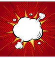 Comic speech cloud bubble halftone back vector image vector image