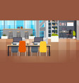 coworking space interior modern coworking office vector image vector image