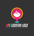 creative gps city locator logo design for brand vector image vector image
