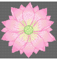 cross stitch lotus vector image vector image