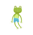 cute soft frogling plush toy stuffed cartoon vector image vector image