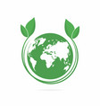 ecology logo eco world symbol icon eco friendly vector image