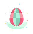 egg easter holiday abstract flat color icon vector image