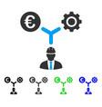 Euro development relations flat icon vector image