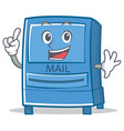 finger mailbox character cartoon style vector image vector image