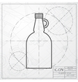 flat apple cider vinegar bottle template vector image vector image