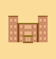 flat icon on stylish background school building vector image vector image