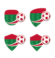 football Badge 7 vector image vector image