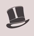 gentleman vintage top hat cylinder hat vector image vector image
