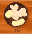 ginger icon vector image vector image