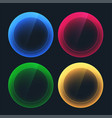 glossy dark buttons in circular shapes vector image vector image