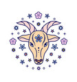 goat chinese zodiac sign vector image vector image