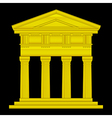 Gold doric temple vector image