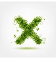Green eco letter X for your design vector image vector image