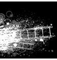 grunge film white vector image