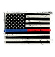 hand drawn police and firefighter support flag vector image vector image