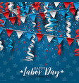 happy labor day usa national holiday vector image vector image