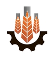 Icon depicting industry and agriculture vector image