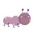 kawaii gardening cartoon cute little ant smiling vector image