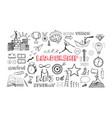 leadership icons set vector image vector image