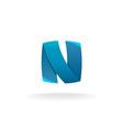 Letter N logo vector image vector image