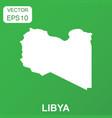 libya map icon business concept libya pictogram vector image vector image
