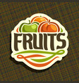 logo for set fresh fruits vector image vector image