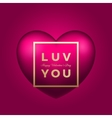 Love You Heart on Pink Background vector image vector image