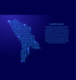 map moldavia from printed board chip and radio vector image vector image