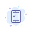 mobile online study school blue icon on abstract vector image