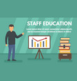 modern staff education concept banner flat style vector image vector image