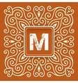 Monogram letter with retro frame vector image