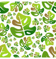 monstera colorful leaf seamless pattern vector image