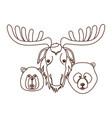 moose beaver and bear animal canada design